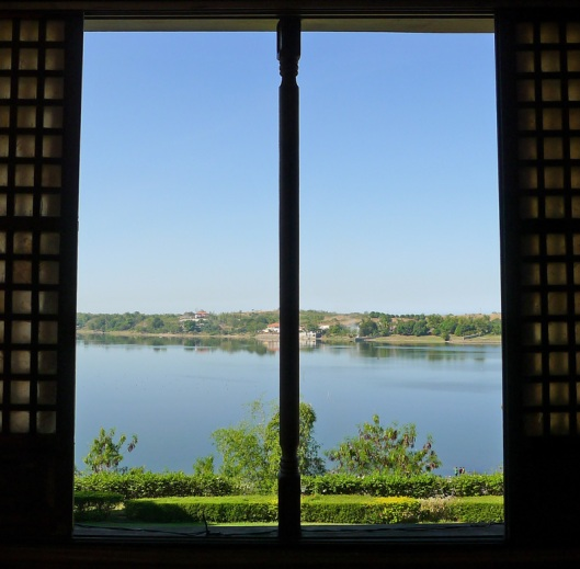 View from the mansion:  the vast and serene Paoay Lake.