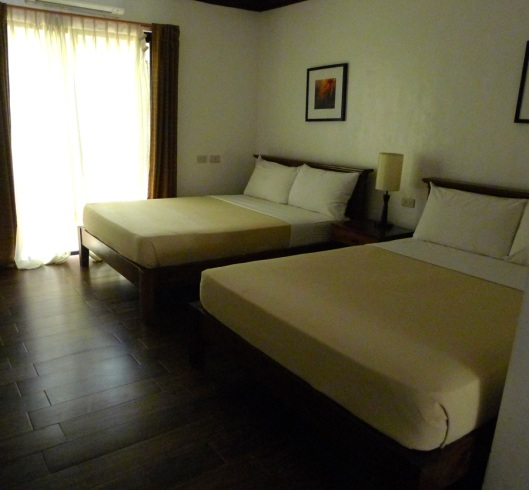 A very spacious 4-person bedroom in of the rooms show to us.