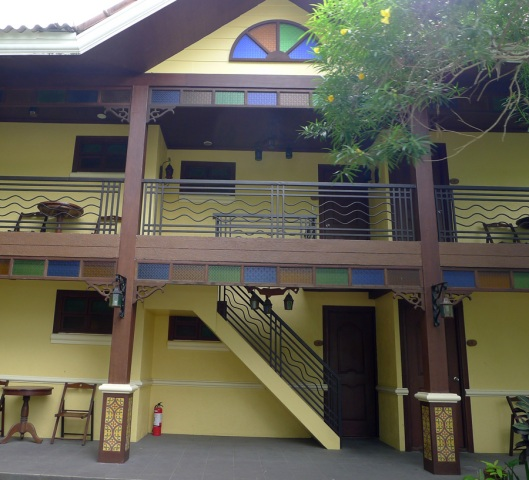 One of the resort villas available.  Each room here can accommodate up to 6 persons.